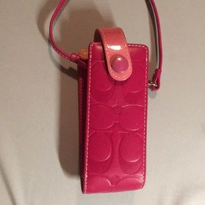 Coach cell phone holder